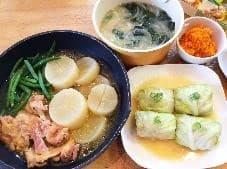 ロールキャベツや味噌汁などの料理