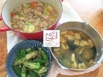 家事代行・料理代行の実例をご紹介 夕食「鶏肉じゃが・オクラの胡麻和え・海老の出汁のお味噌汁」