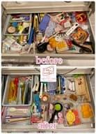 食器棚の片付け前と片付け後